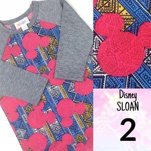 LuLaRoe KIDS 2 DISNEY Sloan Top Mickey Mouse